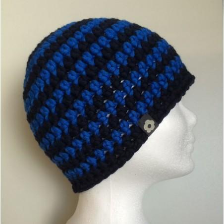 Merino Beanie blau dunkelblau