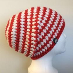 bulaklak No. 1 (Longbeanie) weiß rot