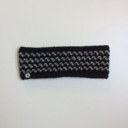 Stirnband schwarz grau