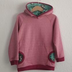 Kapuzenpulli rosa Strickoptik mit Einhorn Kapuze