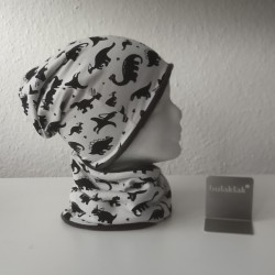 Set Dinosaurier - Jersey Mütze und Loop