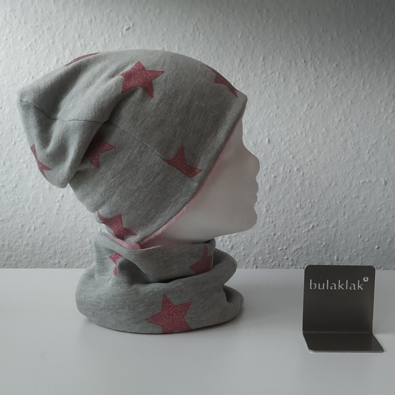 Set Blüten - Jersey Mütze und Loop
