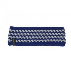 Stirnband weiß royalblau