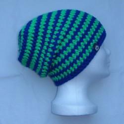 bulaklak No. 1 (Longbeanie) blau neongrün